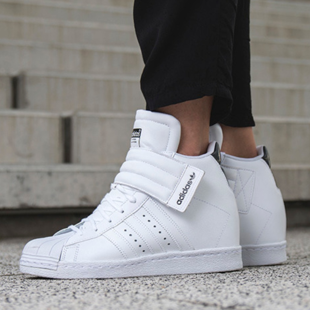 adidas Shoes Adidas White Superstar Wedge Up Strap