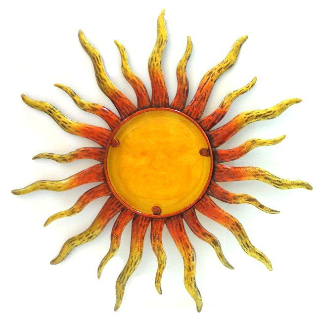 Metal Glass Wall Art - Orang Yellow Sun With Glass Detail | Μελάνι ...