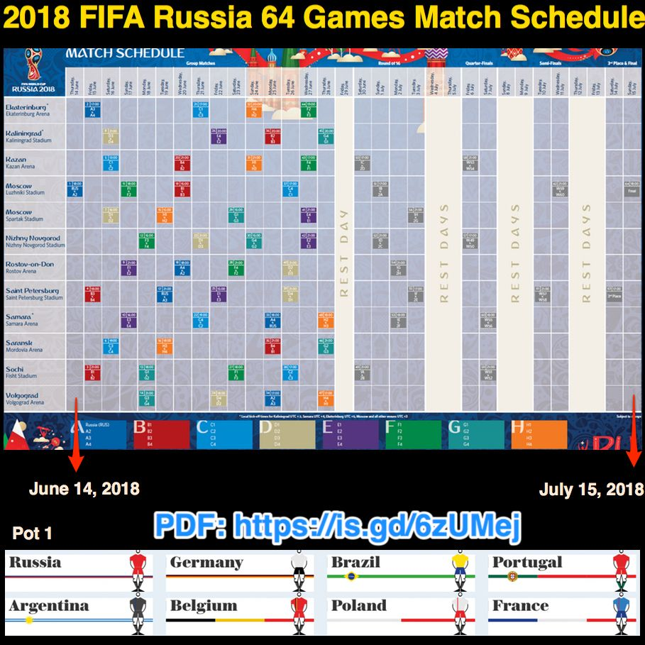 Com Games 2018 Dates : Fifa russia games match schedule fifa´s pdf http