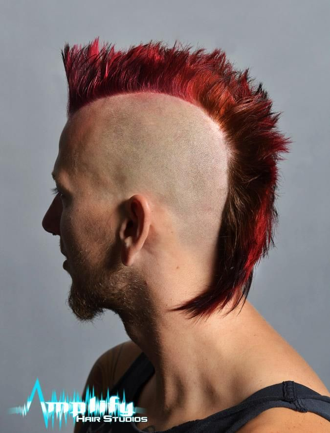 A Conventional Mohawk Haircut This Hairstyle Has Length In The Back