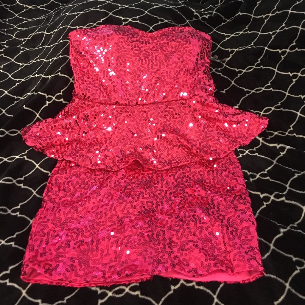 Sequin hot pink dress hot pink dresses and products