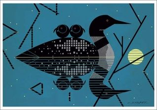 Clair de Loon Notecard by Charley Harper