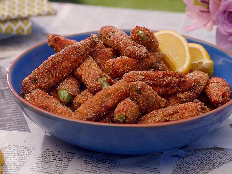 Fried Okra Recipe in 2020 Food network recipes, Okra