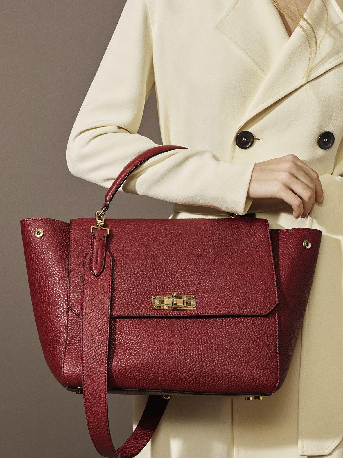 Bally Handle Bag - B Turn   Leather Handbags-Everhandmade.com   Bags ... 2a3d4284d6