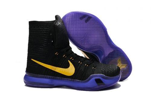 0b2287338070 ... shop where to buy kobe x nike elite high lakers black purple gold 4ada1  edda4
