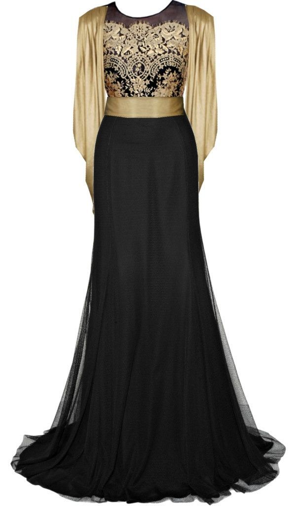 Vestidos de fiesta largos negro con dorado