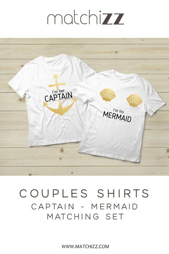 dd8e8e1b Matching Shirt for Couple Cruise Shirt Outfit His and Her Clothing Captain  Mermaid Gift
