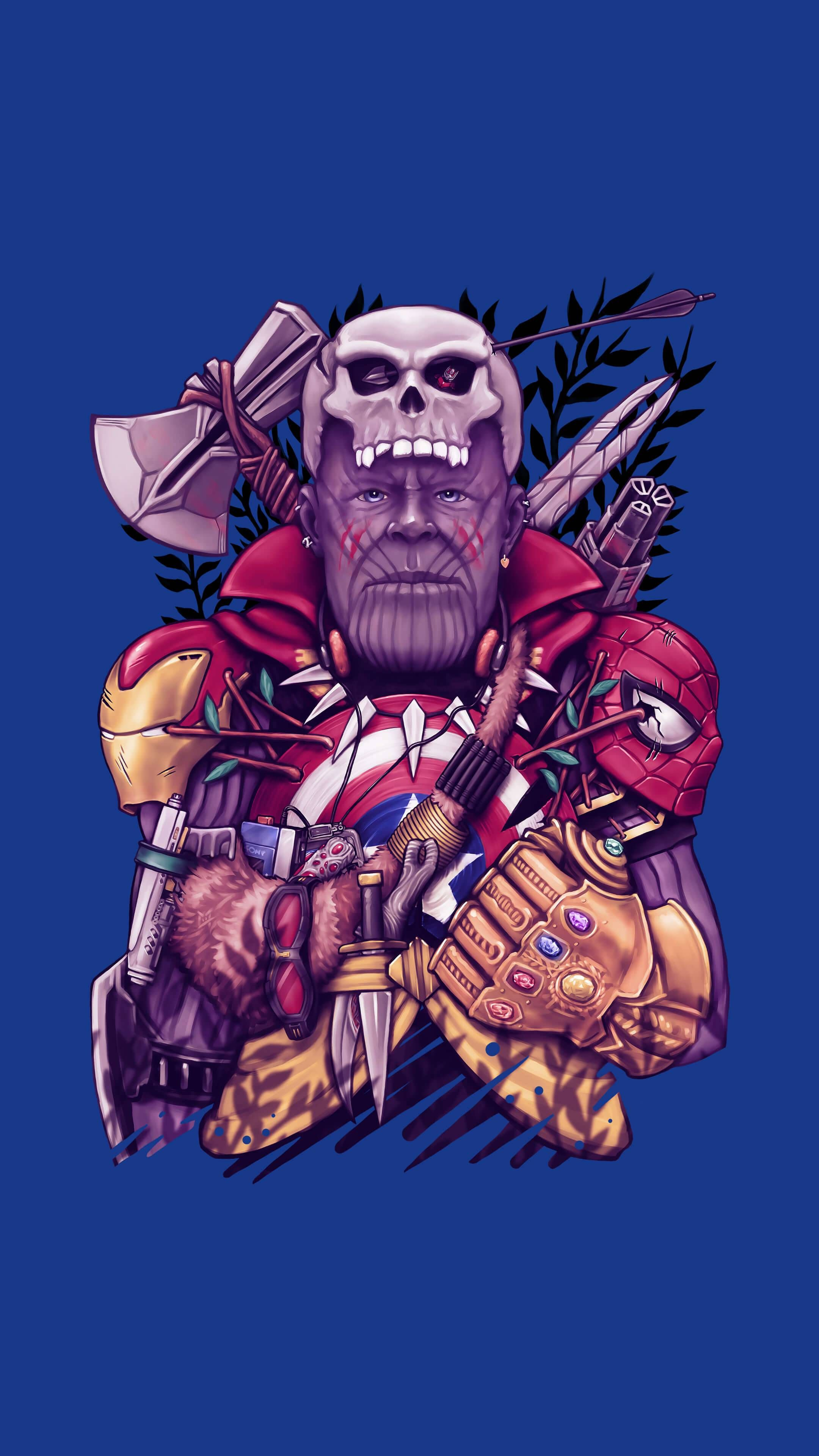 Wild Thanos iPhone Wallpaper Avengers wallpaper, Marvel