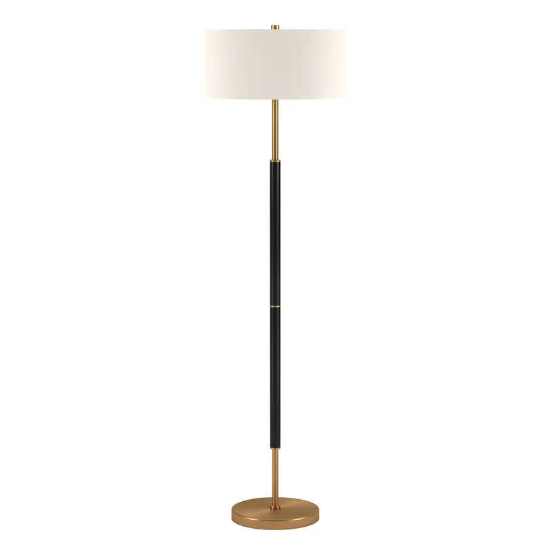 Emmett 62 Floor Lamp In 2020 Black Floor Lamp Brass Floor Lamp Bronze Floor Lamp