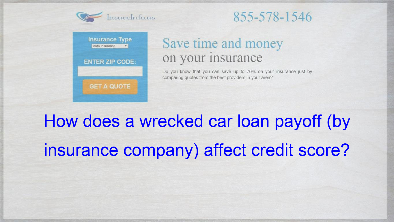 I Have A Car That I Have A Loan On That Has Been Wrecked Since