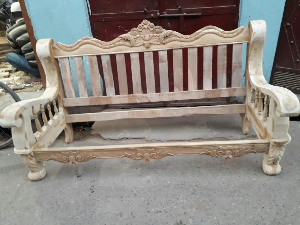 Pin By Anish Debnath On Wood Carwing Furniture And Gift Artical 06374122215 Wooden Sofa Designs Diy Furniture Sofa Bed Furniture Design