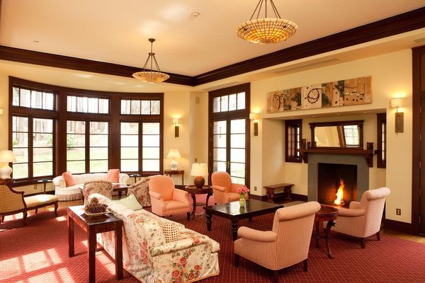 Living Room Paint Ideas With Dark Wood Trim bringing life to a living room | dark wood trim, living room