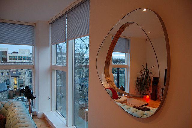 Devolution mirror in living room