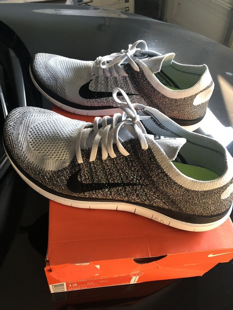 Nike Free 4 0 Flyknit Pure Platinum Mens Size 13 Fashion Clothing Shoes Accessories Mensshoes Athletics Dress Shoes Men Athletic Shoes Oxford Shoes
