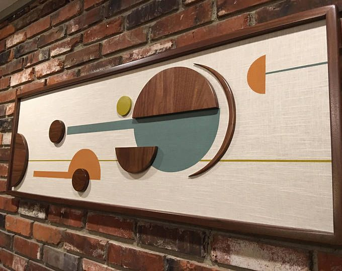 Mid Century Modern Witco Abstract Wall Art Sculpture Painting Retro Eames Era Atomic The Elliot