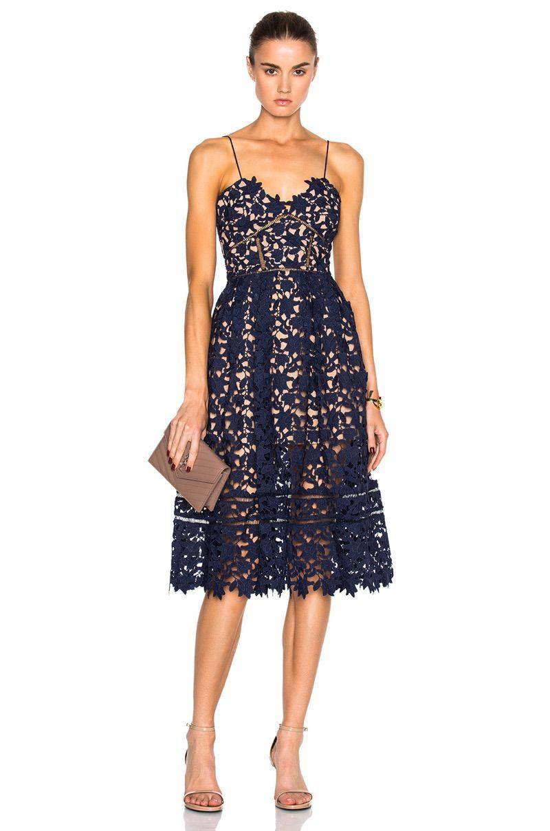 Blue lace dress stores