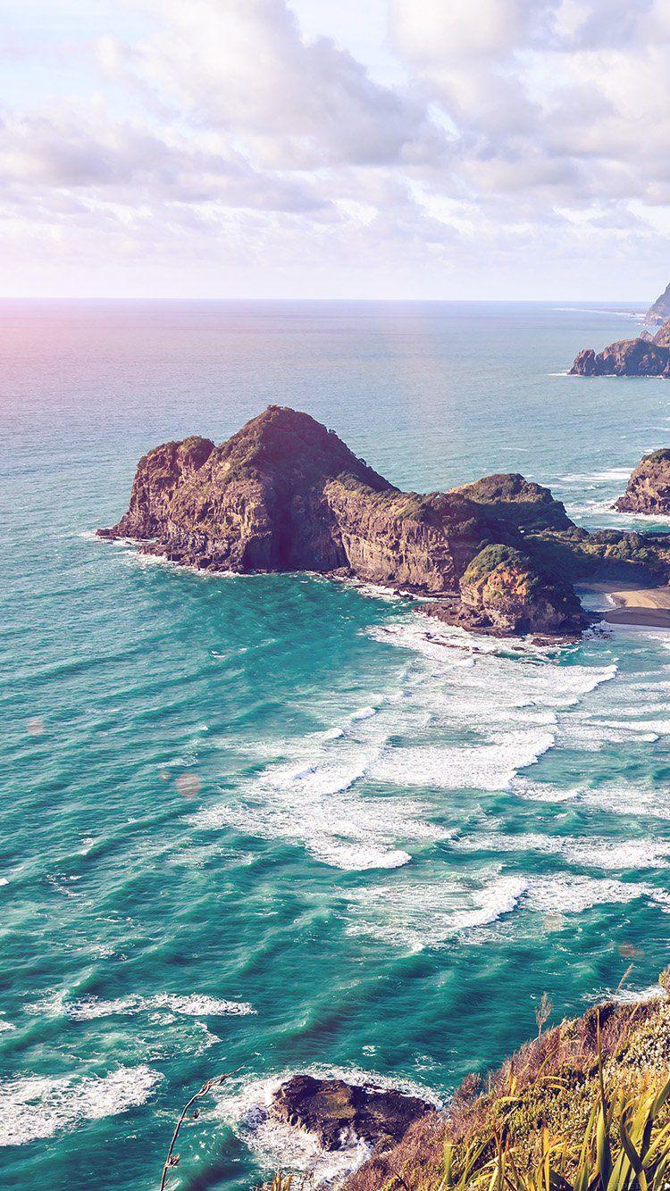 Sea Ocean View Water Flare Nature Wallpaper Hd Iphone Nature Wallpaper Sea And Ocean Scenery