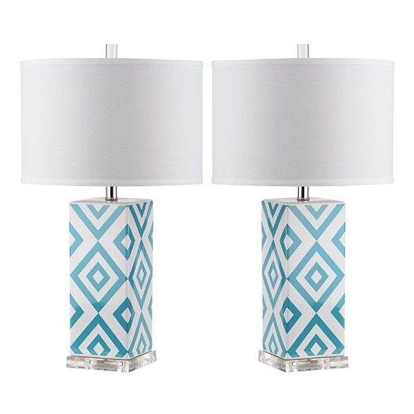 Diamonds Table Lamps   Set Of 2 (975 RON) ❤ Liked On Polyvore Featuring