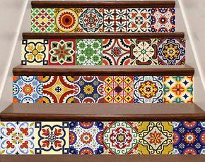 Wohnkultur Fliesen DIY Set 24 Vintage Fototapete Badezimmer Aufkleber  Sticker Bad Design Idee Küchendesign D