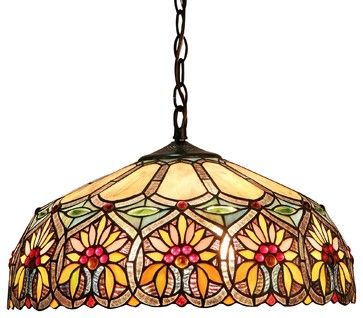 Sunny 2-Light Floral Ceiling Pendant Fixture victorian-pendant-lighting