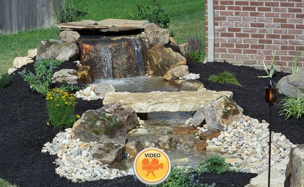Want A Water Feature Without The Cost Or Liability Concerns Of A Pond The Pondless Waterfall Landscaping With Rocks Backyard Water Feature Fountains Backyard
