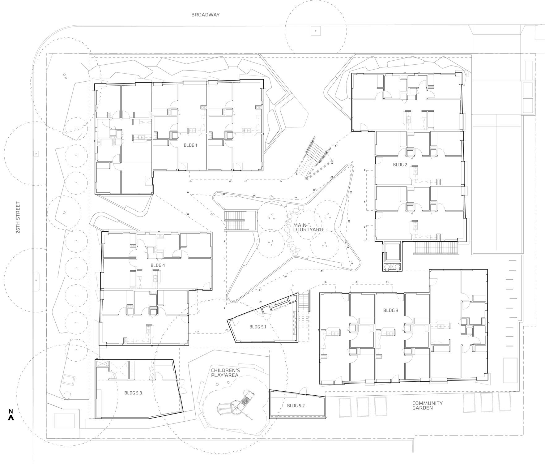 Gallery Of Broadway Housing Kevin Daly Architects 14 Site Plan Architect Architecture Site Plan