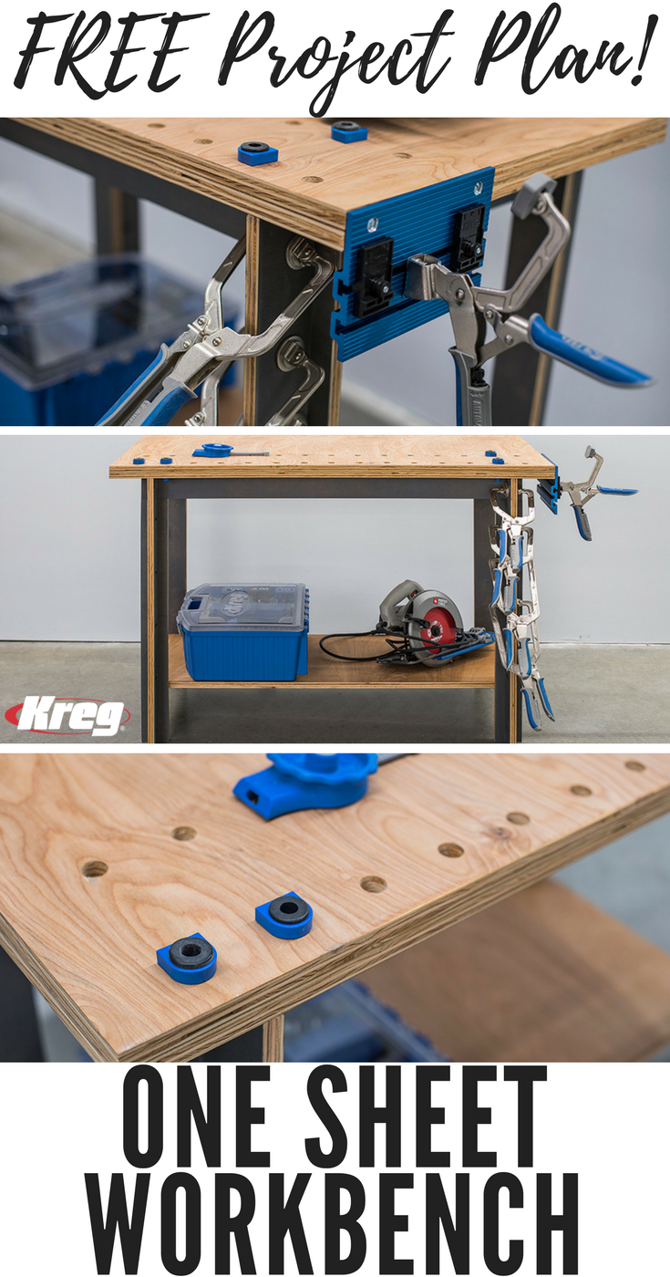 Free Project Plan How To Build A Workbench From A Single Sheet Of Plywood Workbench Plywood Projects Workbench Plans