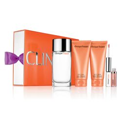 """One of my favorite compliments is the """"ohh, you smell good!"""" Because scents make people happy, and I like making people happy. How ironic is it that this perfume is actually called Clinique's Happy? This gift set comes with the Happy full-size perfume, body wash, and body cream, and a rollerball. The scent is light and fresh with some notes of vintage woman sophistication, which is exactly how I want to be remembered. If there's anything I want most in this list, it's this set."""