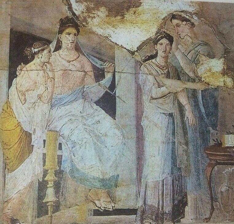 Esclave Coiffant Une Jeune Fille Peinture Provenant D Herculanum Arte Romano Historia Romana Roma Antigua