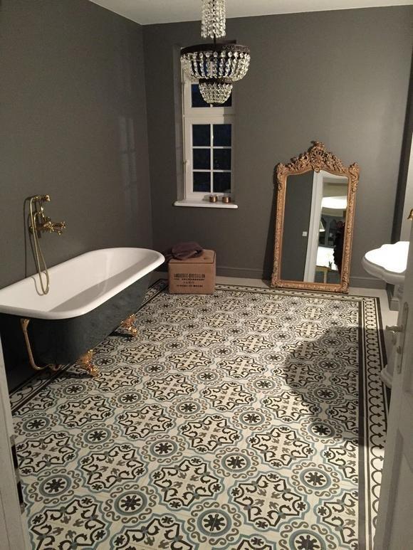 Originelle Fliesen Retro Badezimmer Badezimmer
