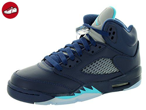 cheap for discount f9cf3 313cb Nike Jungen Air Jordan 5 Retro BG Turnschuhe, Azul   Blanco (Midnight Navy