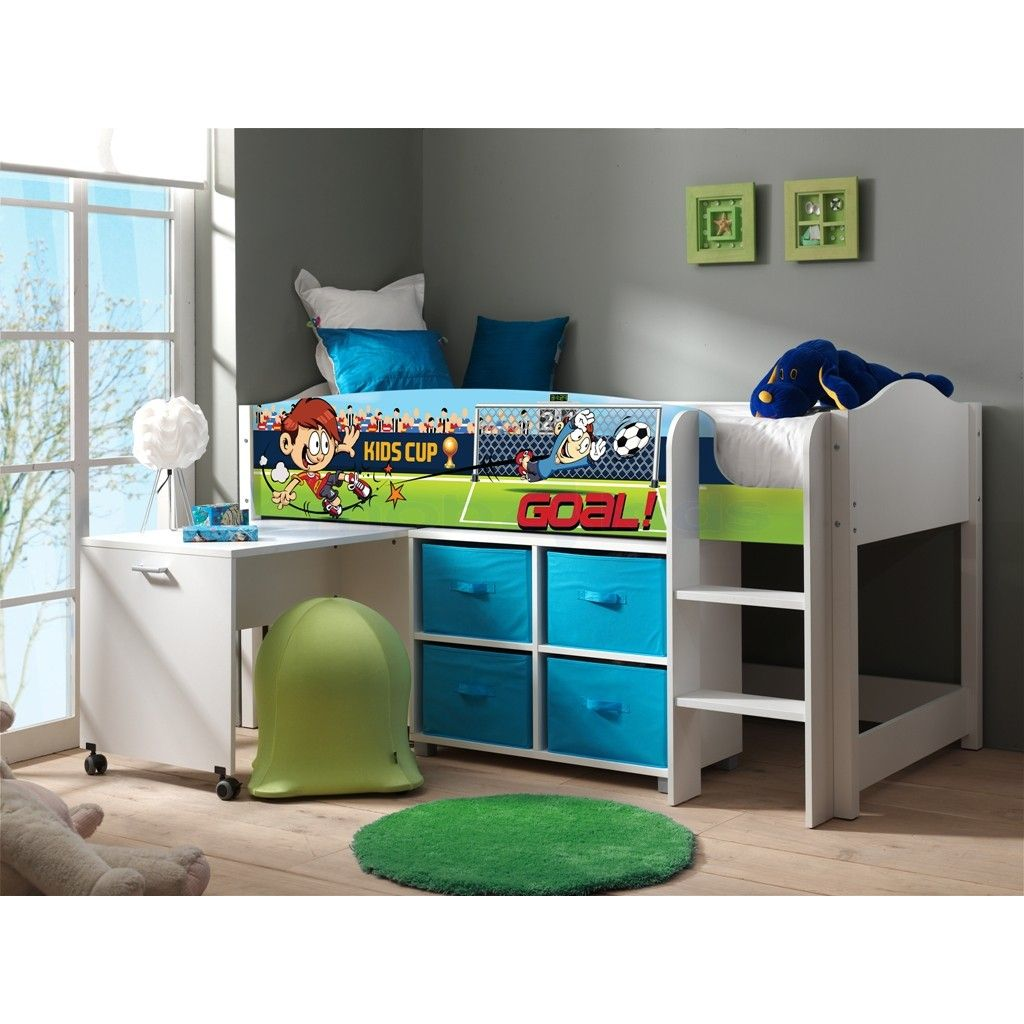 halbhochbett mit schreibtisch lollipop fu ball. Black Bedroom Furniture Sets. Home Design Ideas