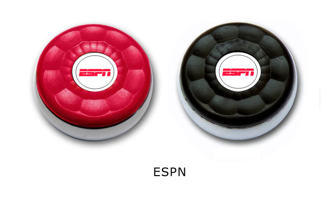 Large Personalized Custom Table Shuffleboard Puck Weights S We Made For Espn Zieglerworld Com Shuffleboard Pucks Shuffleboard Table Shuffleboard Pucks