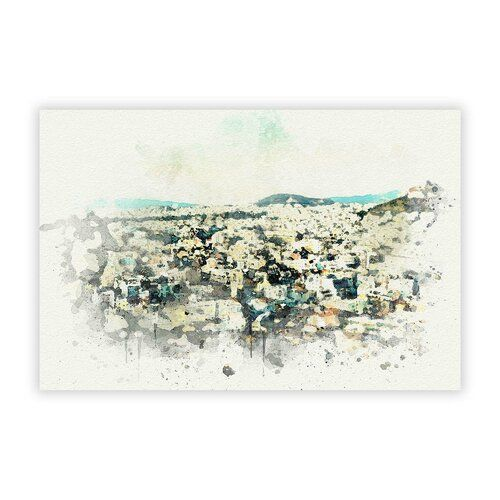 'Athens Skyline in Greece' - Graphic Art Print on