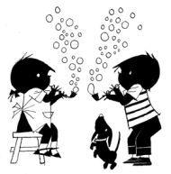 kleurplaat jip en janneke ballonnen