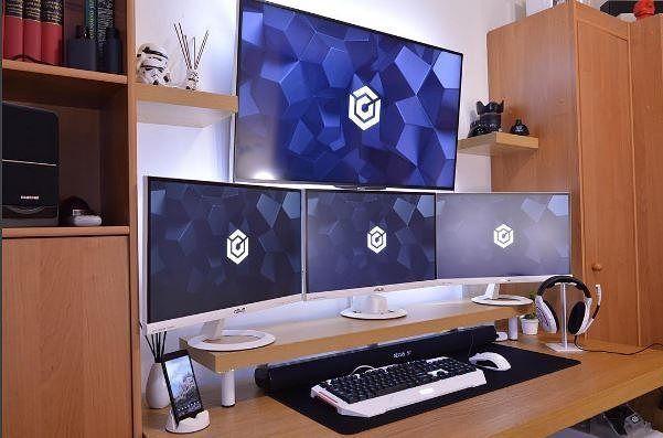 Pin by maliq on office setups pinterest console rangement