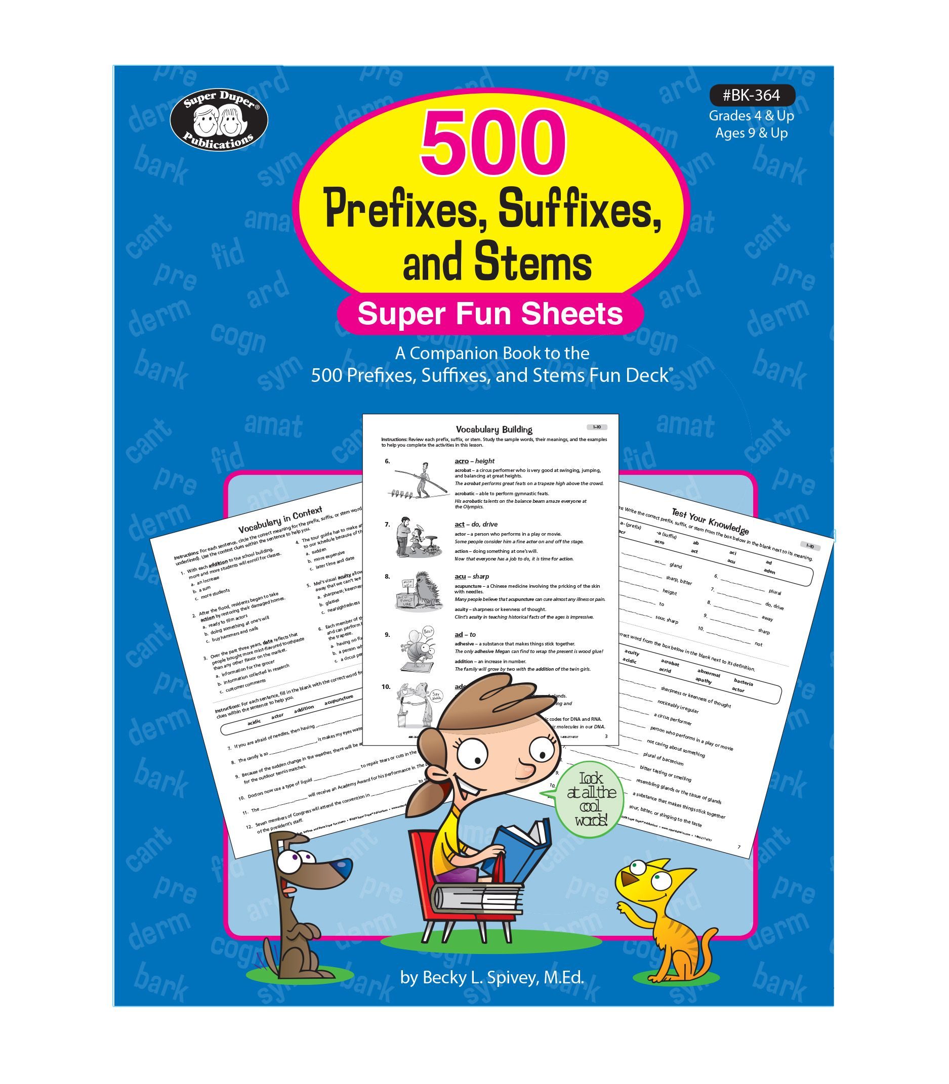 500 Prefixes Suffixes And Stems Super Fun Sheets Book