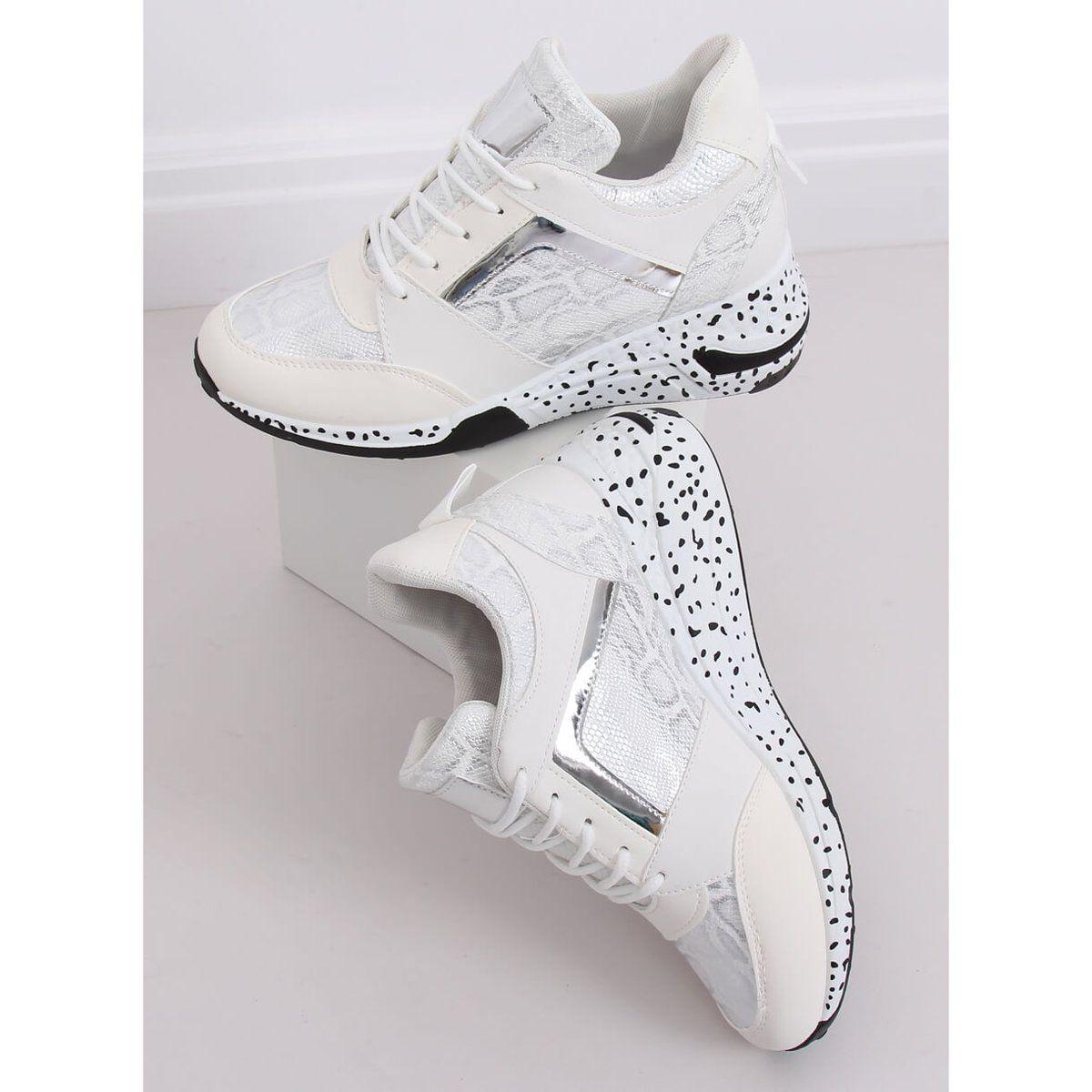 Buty Sportowe Na Koturnie Biale C131 Blanco Sneakers Nike Shoes Nike Huarache
