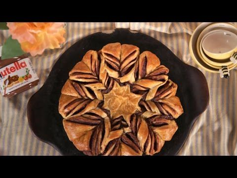 How to Make Braided Nutella Croissant Bread | Get the Dish - YouTube