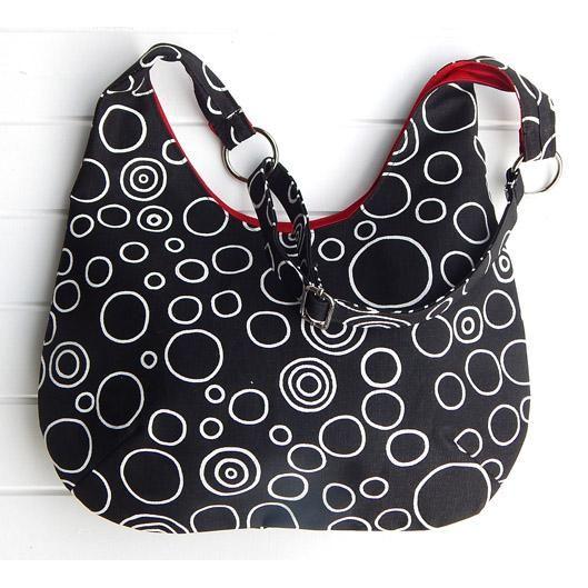 35 Las Adjule Hobo Handbag Purse Black And White Bubble Design By Boonlellbags On Handmade Australia