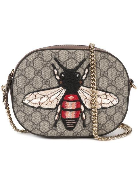78d721e25c81 GUCCI mini GG Supreme bee bag.  gucci  bags  shoulder bags  leather   crossbody