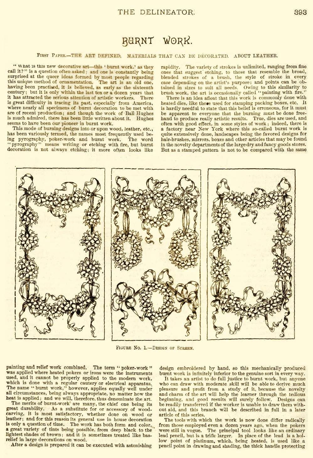 Delineator Harriet Keith Fobes Articles Pyrogravure L Art