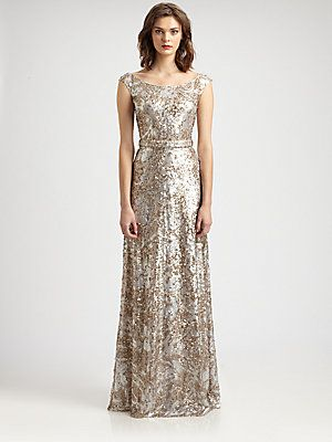 David Meister Sequined Gown At Saks Fifth Avenue 690cdn Mar 2017