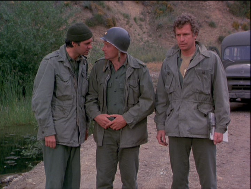 M*A*S*H. Hawkeye, Frank, and Trapper. Practical jokes