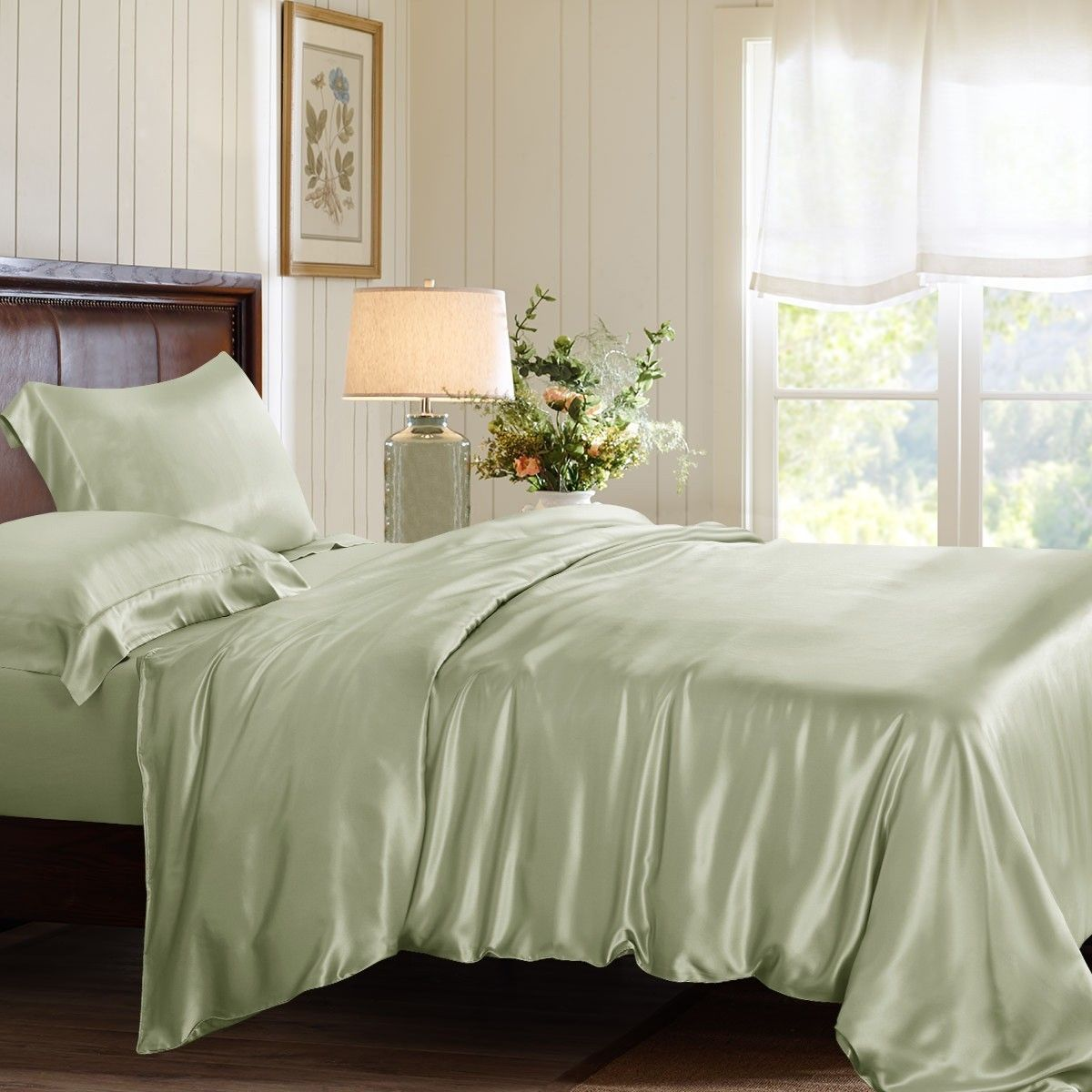 Sage Green Silk Duvet Cover With Images Silk Duvet Cover Silk