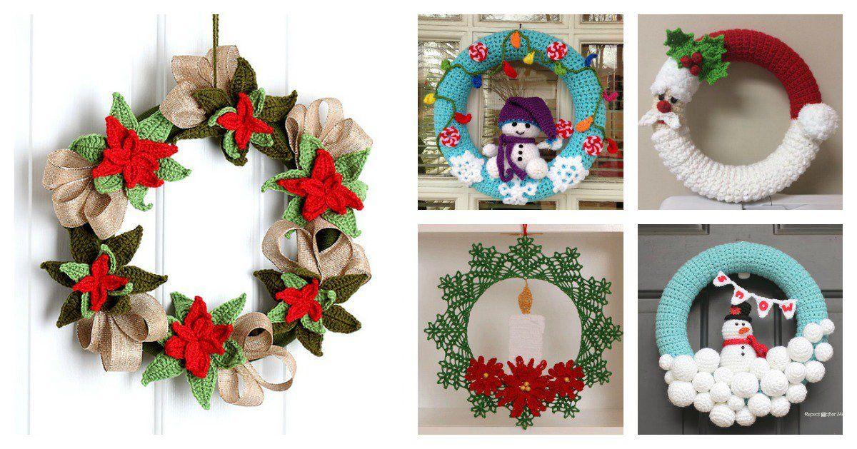 10+ Christmas Wreath Crochet Patterns Crochet wreath, Wreaths and