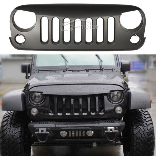 Matt Black Angry Bird Grid Grille Grill For 2007 14 08 Jeep