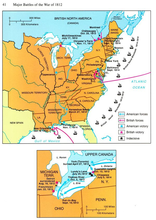 War Of Battle Map History S Pinterest - Map of us during war of 1812