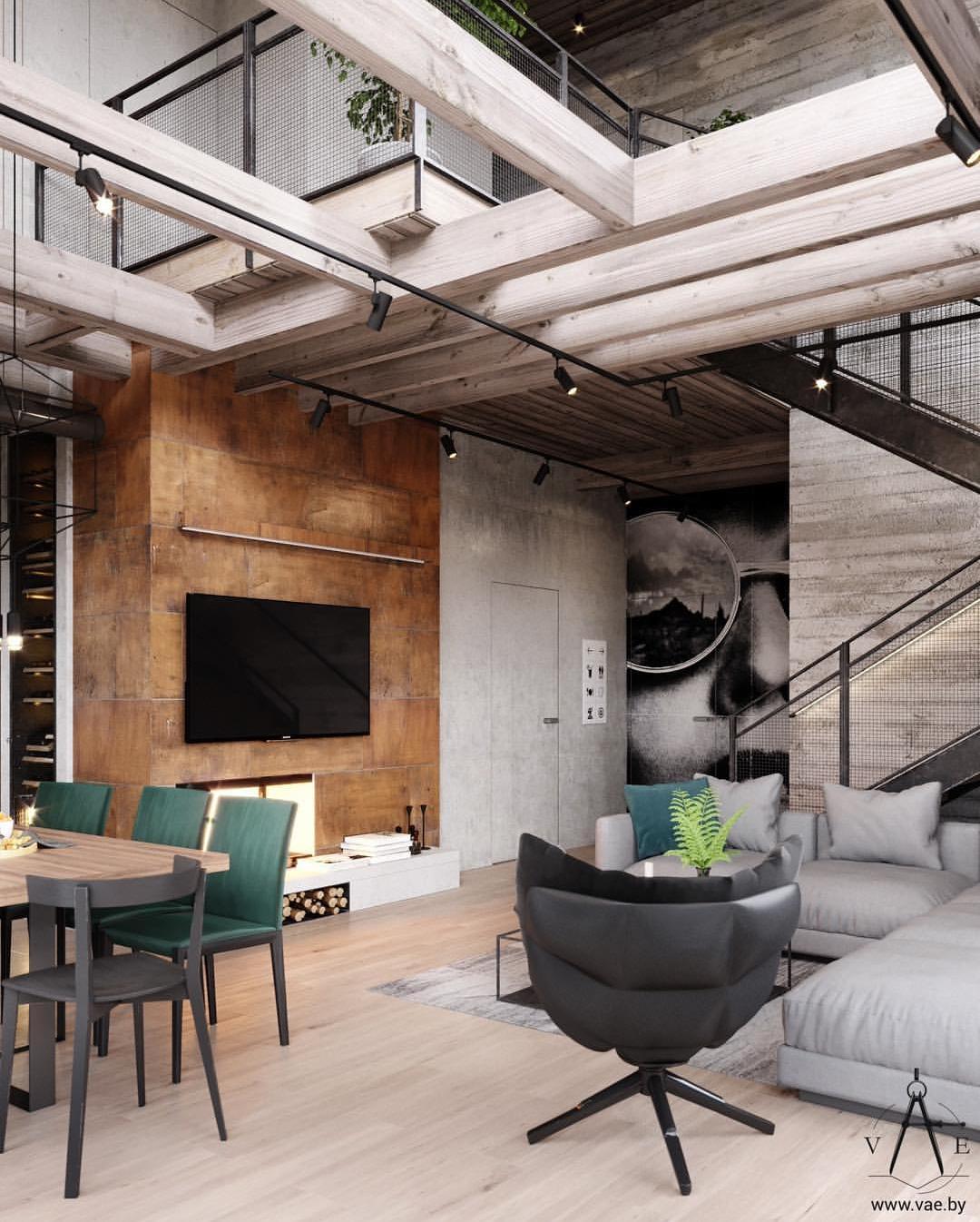 Loft Design By Vae Studio In 2019 Loft Interior Design