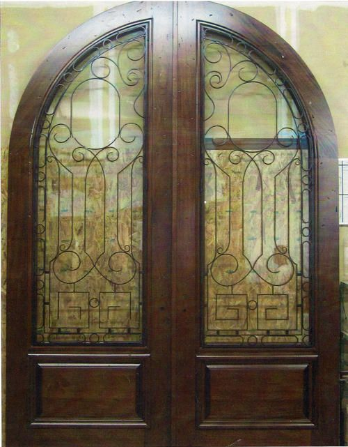 Mahogany and glass Country French exterior doors. | For the Home ...